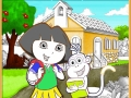 Dora the Explorer coloring play online