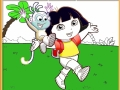 Dora and Boots coloring play online
