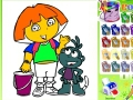 Pictures Coloring Dora the Explorer play online